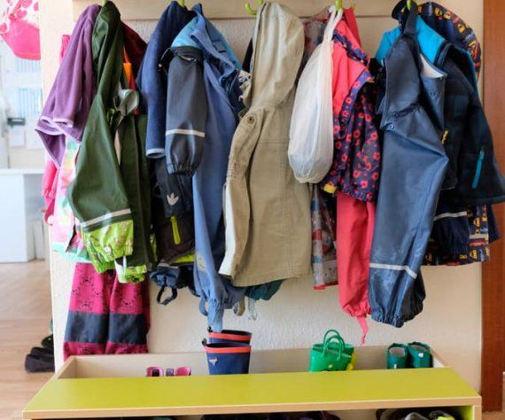 Kinderkrippe Garderobe
